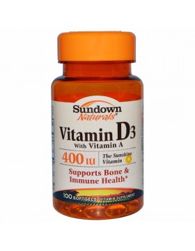 Vitamin D3 with Vitamin A 400iu (100 капс.)
