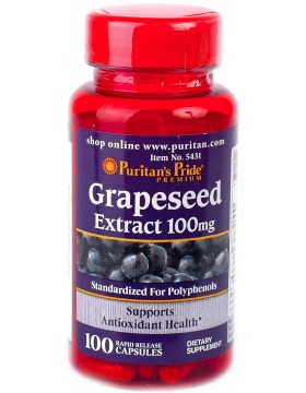 Фото Puritan's Pride Grapeseed Extract 100mg (100 капс)