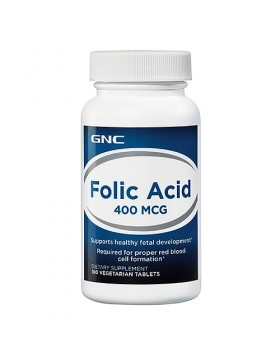 Фото GNC Folic Acid (100 капс)
