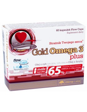 Фото Olimp Nutrition Gold Omega 3 Plus (60 капс)