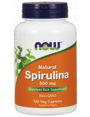 NOW Natural Spirulina 500 mg (120 капс)