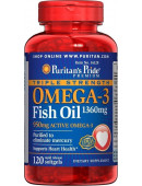 Puritan's Pride Omega-3 Triple Strength 1360mg (120 капс.) (120 капс)