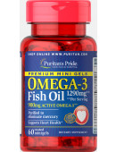 Puritan's Pride Premium Mini Gels Omega-3 Fish Oil 1290 mg (60 капс.) (60 капс)
