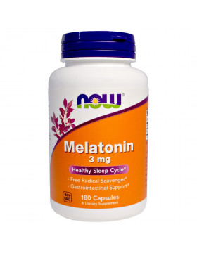 Фото NOW Melatonin 3 mg (180 капс)