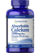 Puritan's Pride Absorbable Calcium 1200 mg (100 капс)