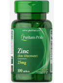 Puritan's Pride Zinc Gluconate 25 mg (100 капс)