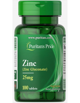 Фото Puritan's Pride Zinc Gluconate 25 mg (100 капс)
