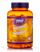 NOW Arginine 500mg + Citruline 250mg (120 капс)